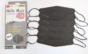 Khẩu Trang Cao Cấp 4D Hello Mask ( Màu đen)